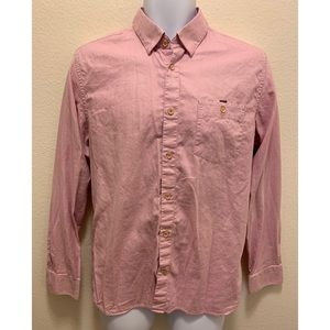Ted Baker Long Sleeve Button Shirt Pink Size 4